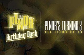 PLNDR's Turning 3! All Items $3
