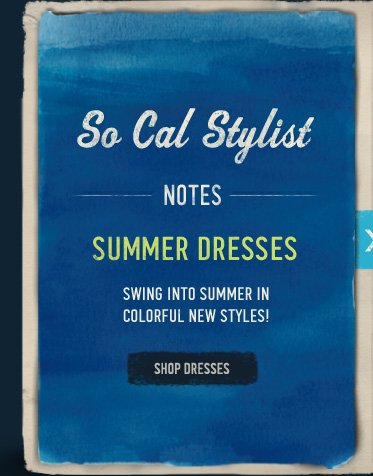SO CAL STYLIST NOTES SUMMER DRESSES SWING INTO SUMMER IN  COLORFUL NEW STYLES! SHOP DRESSES