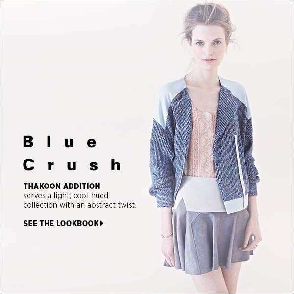 Thakoon Addition serves a light, cool-hued collection with an abstract twist. Shop Thakoon Addition >>