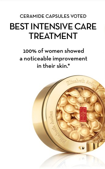 CERAMIDE CAPSULES VOTED BEST INTENSIVE CARE TREATMENT. 100% of women showed a noticeable improvement in their skin.*