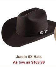 Shop 169 99 Justin 6X Hats