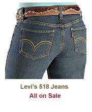 Shop Womens Levi 518 Jeans on Sale