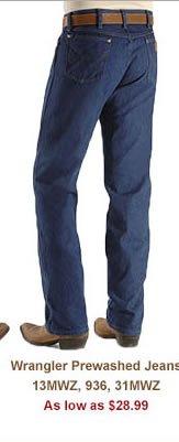Shop Mens 28 99 Wrangler Prewashed Jeans