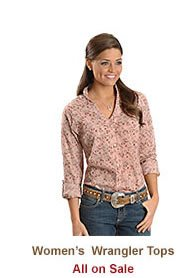 Shop Womens Wrangler Tops on Sale