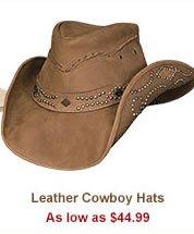 Shop Leather Cowboy Hats
