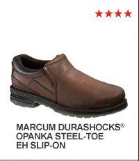 Marcum DuraShocks Opanka Steel-Toe EH Slip-On