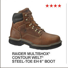 "Raider MulitShox Contour Welt Steel-Toe EH 6"""