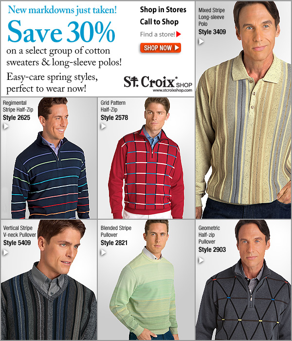Select St. Croix Spring Cotton Sweaters Now 30% Off - Shop Now!
