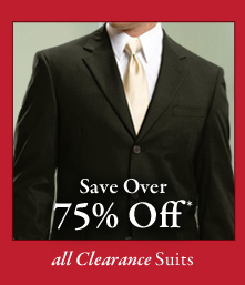 All Clearance Suits - Save Over 75% Off*