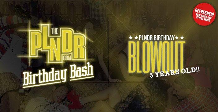 PLNDR Birthday Blowout Refresh