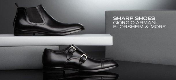 SHARP SHOES: GIORGIO ARMANI, FLORSHEIM & MORE, Event Ends May 2, 9:00 AM PT >