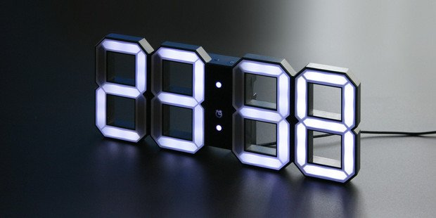 Touch of modern the kibardin led clock self contained for Touch of modern clock