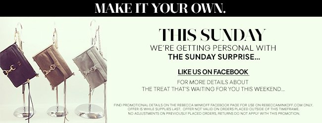 Make It Your Own. This Sunday, we're getting personal with the Sunday Surprise.