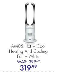 AM05 Hot + Cold Heating and Cooling Fan – White Was: 399.99 Now: 319.99