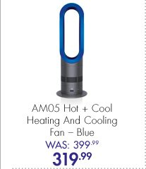 AM05 Hot + Cold Heating and Cooling Fan – Blue Was: 399.99 Now: 319.99