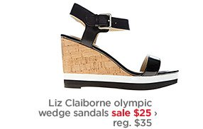 Liz Claiborne olympic wedge sandals sale $25›