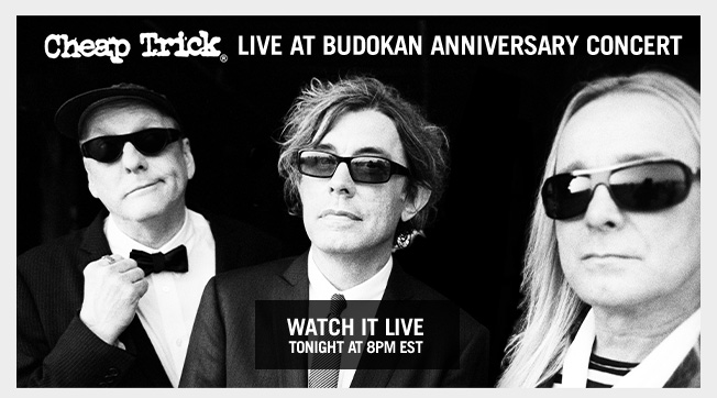 Tune In Tonight - Cheap Trick Livestream from the Bowery