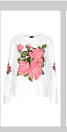 Embroidered Floral Sweat