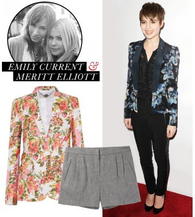 What are some stylish ways to wear a floral blazer?