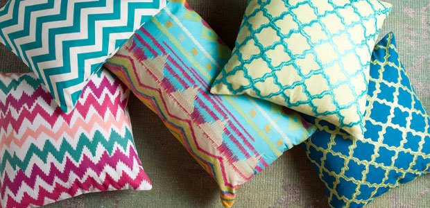 Pile On the Patterns: Pillows in Trending Prints