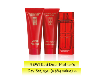 NEW! Red Door Mother's Day Set, $50 (a $84 value).