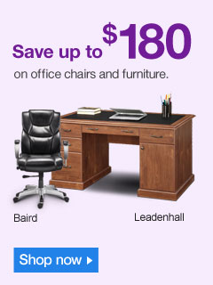 Save up  to $180 on office chairs and furniture. Shop now.