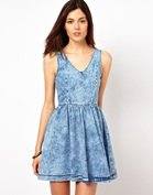 Warehouse Denim Skater Dress