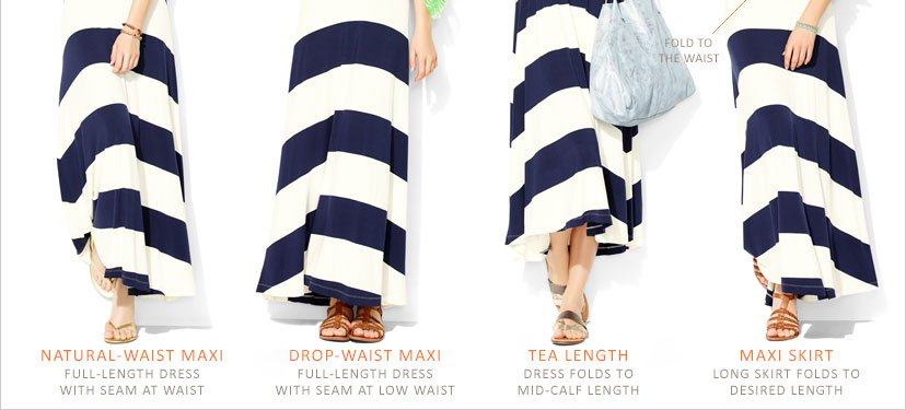 NATURAL-WAIST MAXI | DROP-WAIST MAXI | TEA LENGTH | MAXI SKIRT