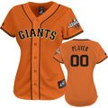 San Francisco Giants Jersey: Women's Any Player Alternate Orange Replica Jersey with World Series Commemorative Patch worn in 2013