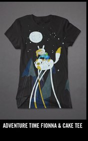 ADVENTURE TIME FIONNA & CAKE TEE