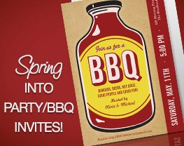 Spring into Party/BBQ invites!
