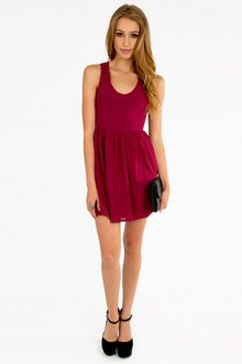 Deep V Lace Back Dress $23