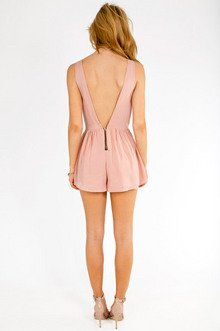 Solid Low Back Romper $36