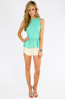 Lady Lace Peplum Top $26