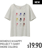 WOMEN E.M.HAPPY PROJECT T-SHIRT