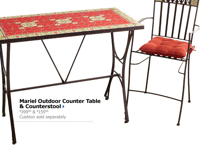 Mariel Outdoor Counter Table & Counterstool