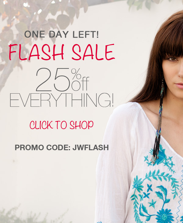 flash sale - 25% off everything!
