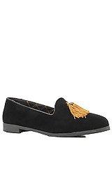 The Lowf Tassel Shoe in Black & Gold