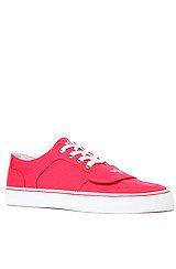 The Cesario Lo XVI Sneaker in Red