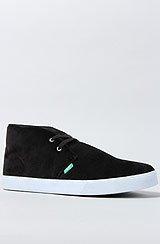 The Shaheen Sneaker in Black Moleskin