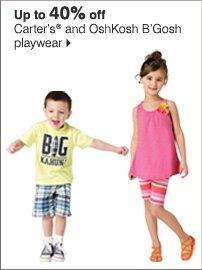 Up to 40% off Carter's® and OshKosh B'Gosh playwear