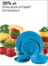 30% off Entire stock of Fiesta® Dinnerware