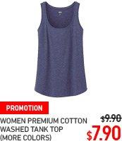 WOMEN PREMIUM COTTON WASHED TANK TOP