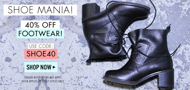 40% Off Footwear on Miss KL