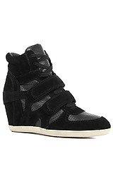 The Bea Sneaker in Black Suede Nappa
