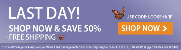 LAST DAY to Save 50% + Free Shipping!