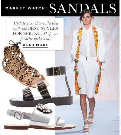Stock Up On Chic Sandals This Season