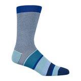 Navy Skinny Stripe Socks