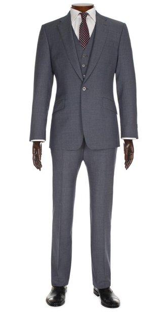 Grey Herringbone 3-Piece Byard Suit