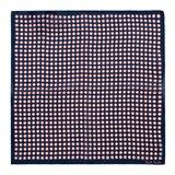 Navy Tie Spot Print Handkerchief